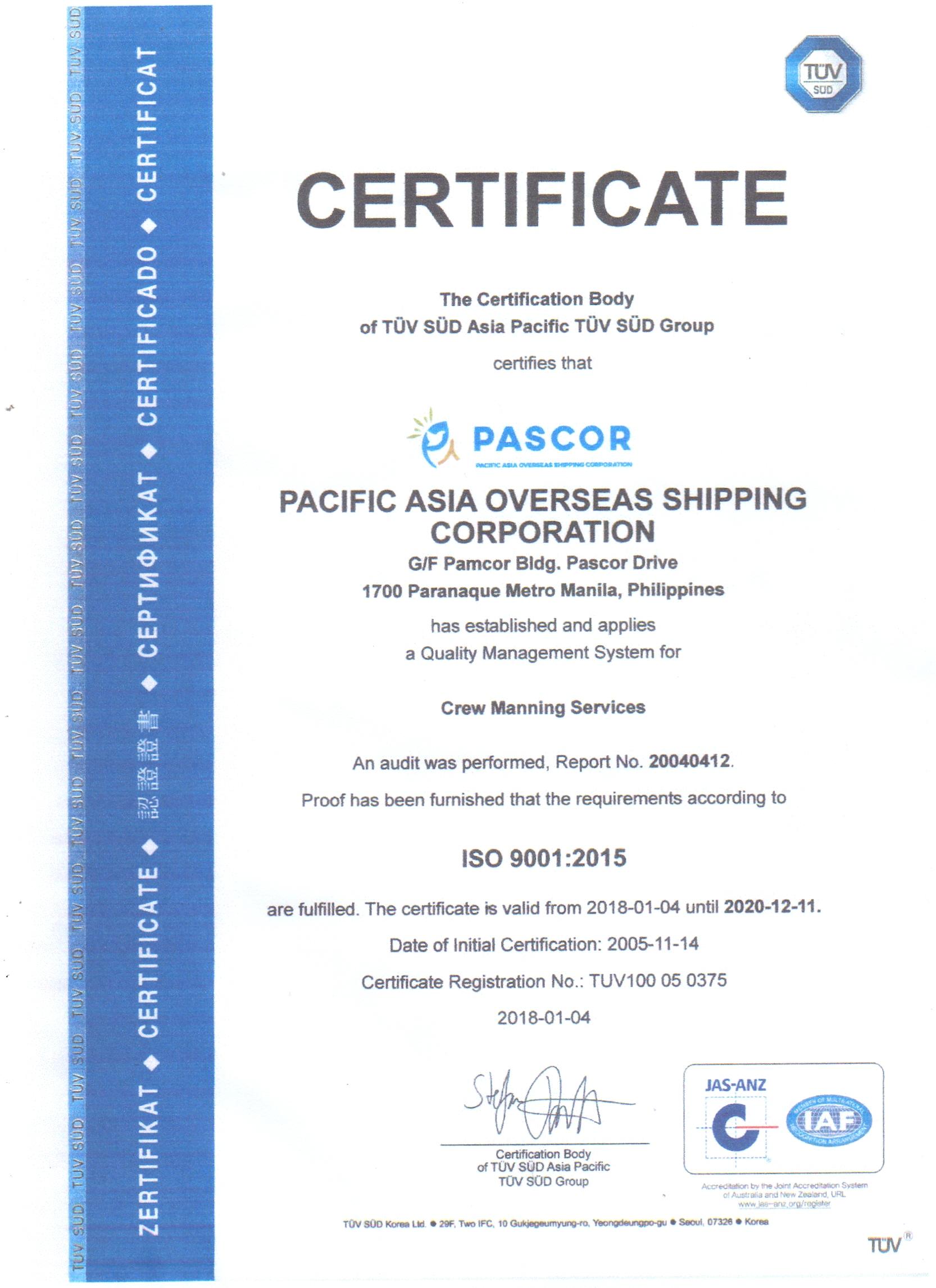 PASCOR – Maritime Recruitment